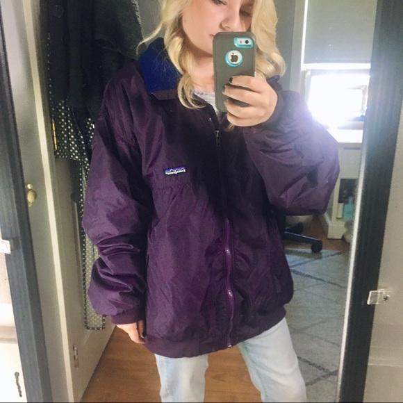 Purple Patagonia Full Zip Jacket Extra Large